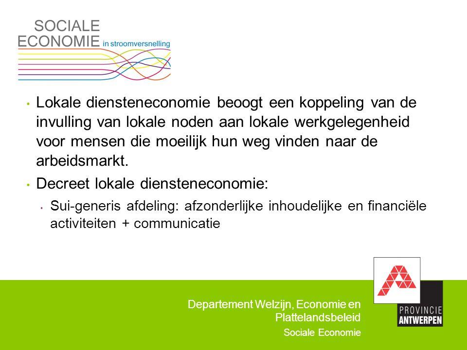 Decreet lokale diensteneconomie: