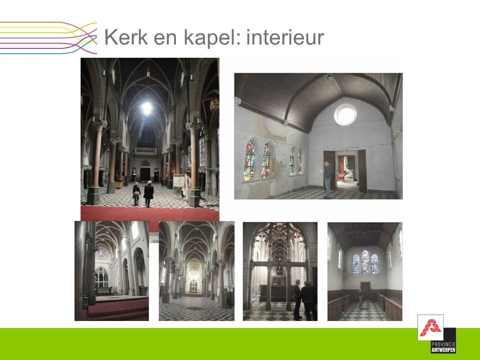 Kerk en kapel: interieur