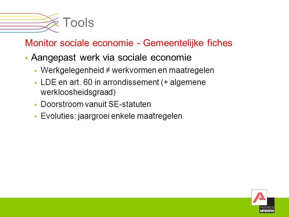Tools Monitor sociale economie - Gemeentelijke fiches