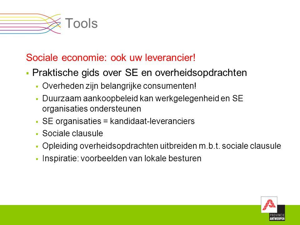 Tools Sociale economie: ook uw leverancier!