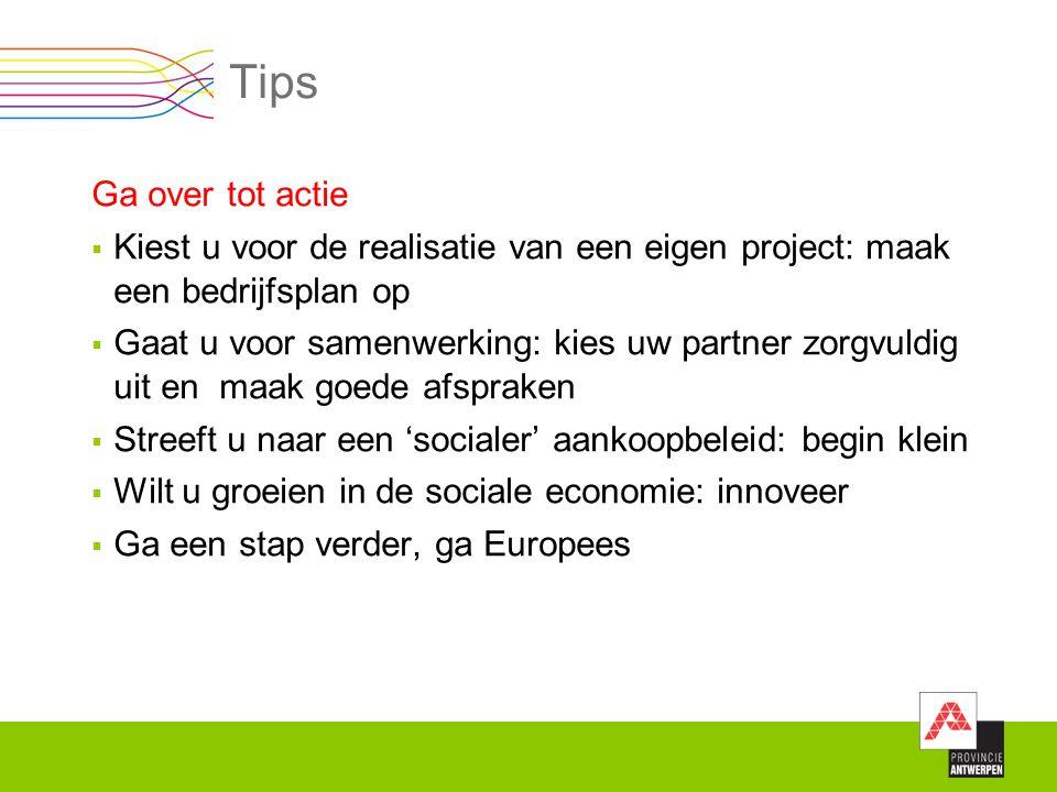 Tips Ga over tot actie. Kiest u voor de realisatie van een eigen project: maak een bedrijfsplan op.