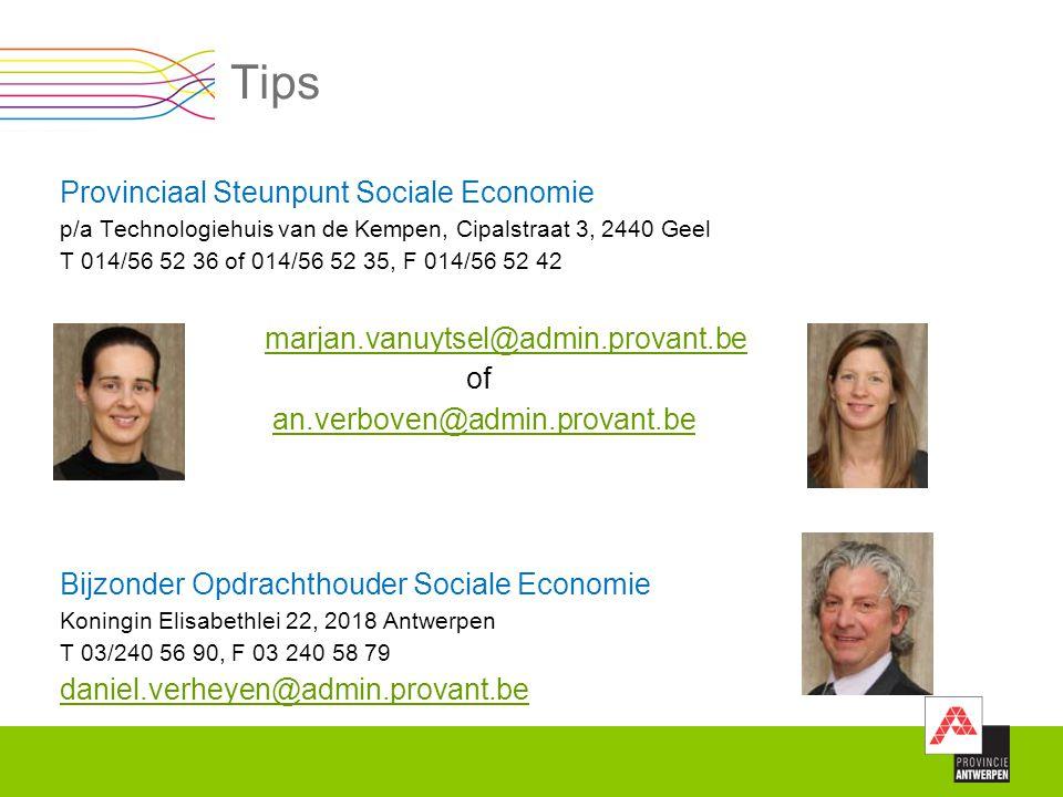 Tips Provinciaal Steunpunt Sociale Economie