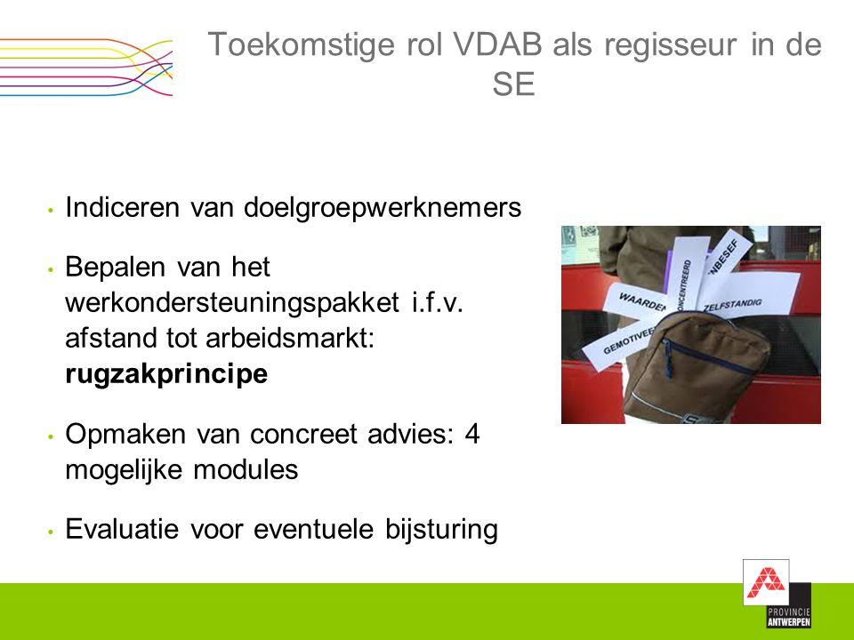 Toekomstige rol VDAB als regisseur in de SE