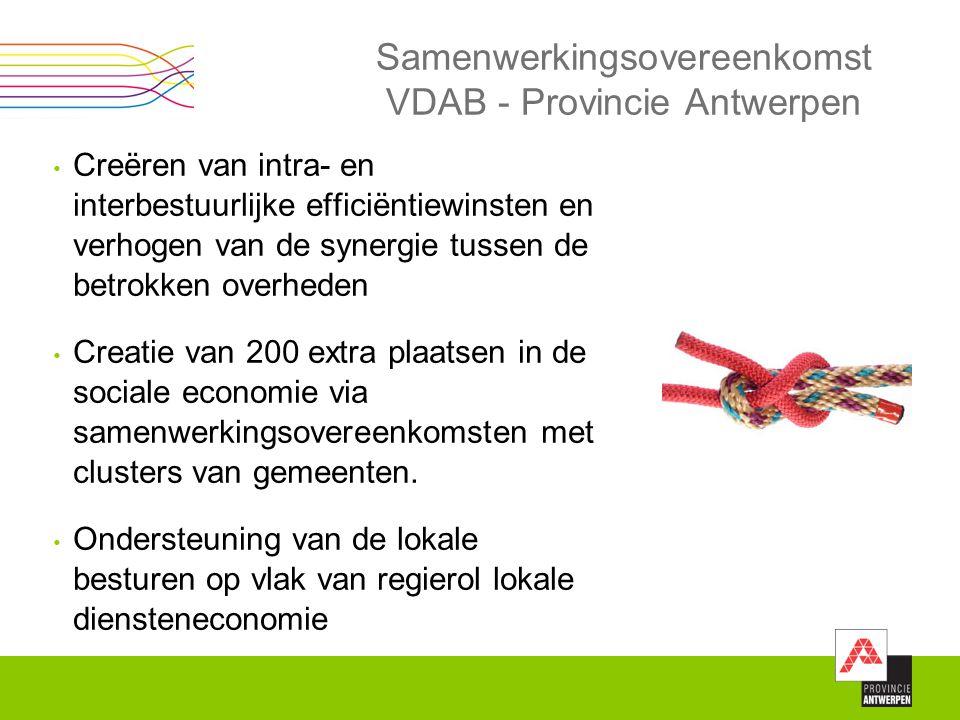 Samenwerkingsovereenkomst VDAB - Provincie Antwerpen