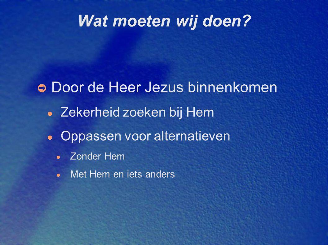 Wat moeten wij doen Door de Heer Jezus binnenkomen