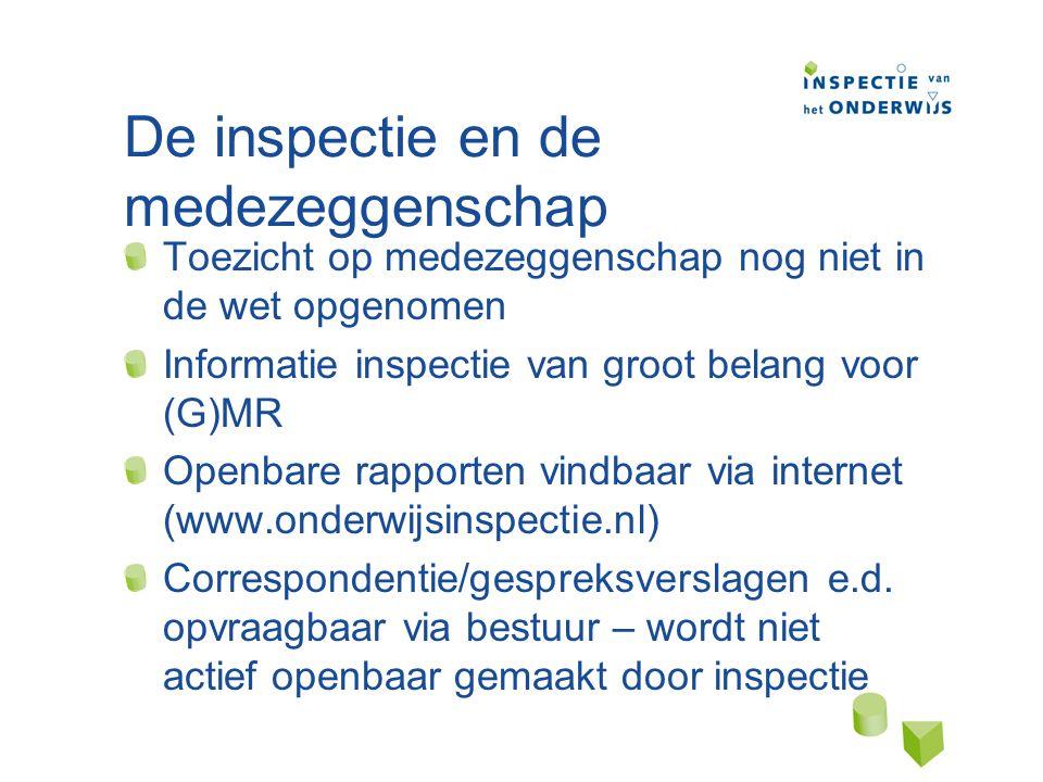De inspectie en de medezeggenschap