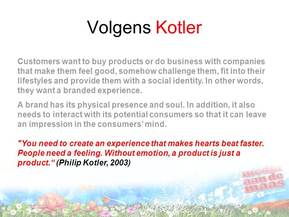 Volgens Kotler