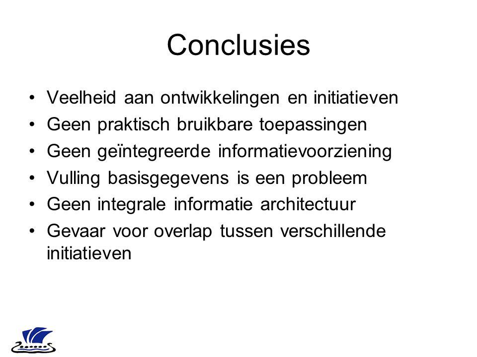 Conclusies Veelheid aan ontwikkelingen en initiatieven