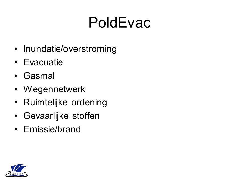 PoldEvac Inundatie/overstroming Evacuatie Gasmal Wegennetwerk