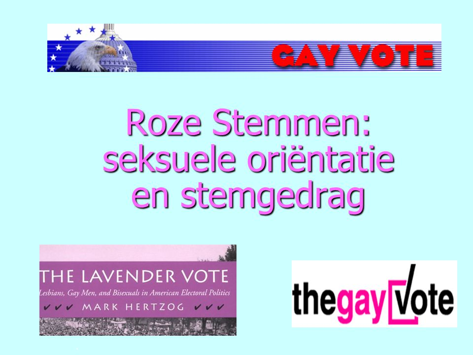 Roze Stemmen: seksuele oriëntatie en stemgedrag