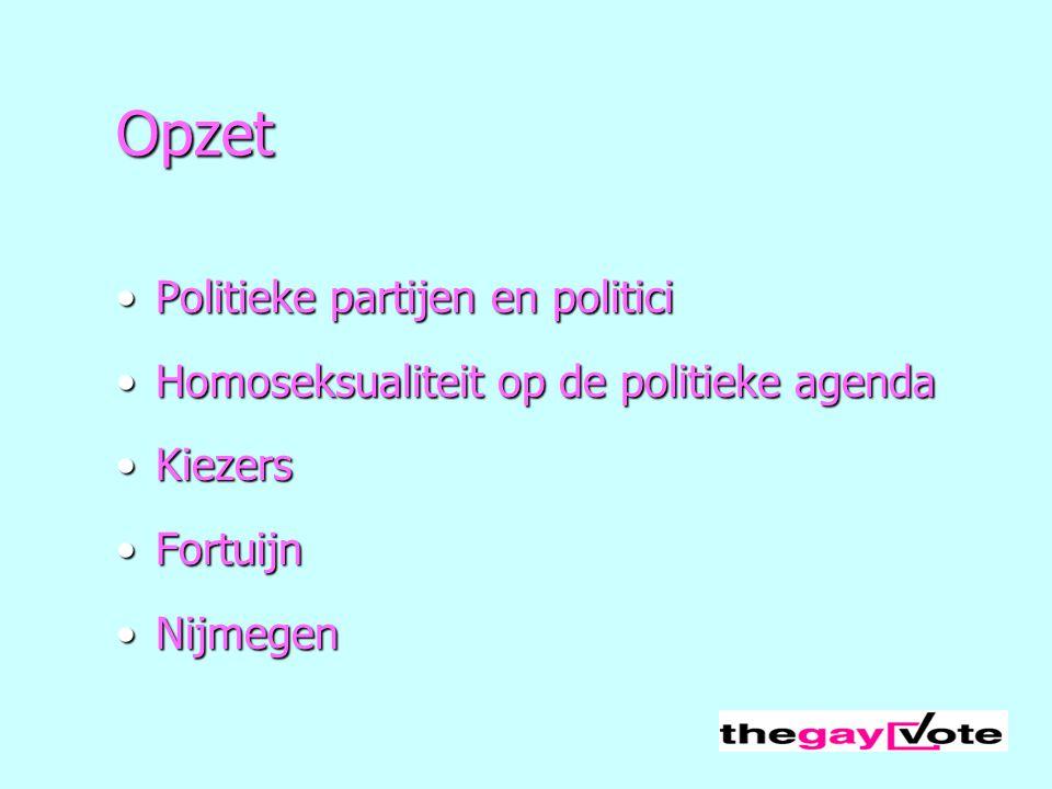 Opzet Politieke partijen en politici