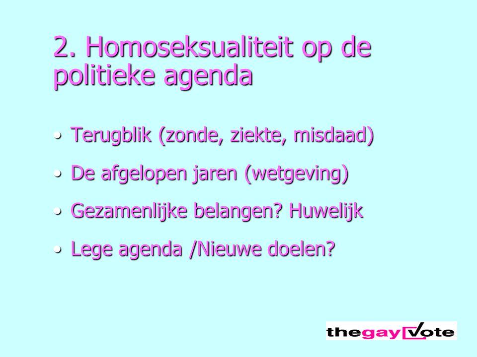 2. Homoseksualiteit op de politieke agenda