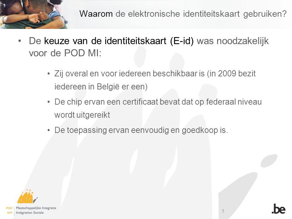 Waarom de elektronische identiteitskaart gebruiken