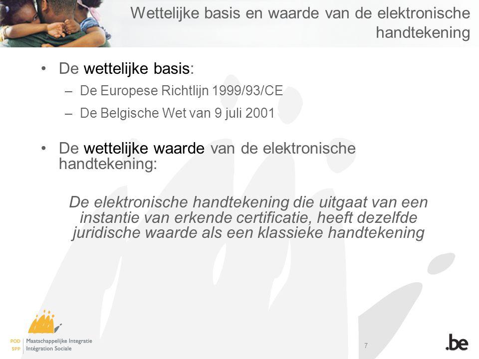 Wettelijke basis en waarde van de elektronische handtekening