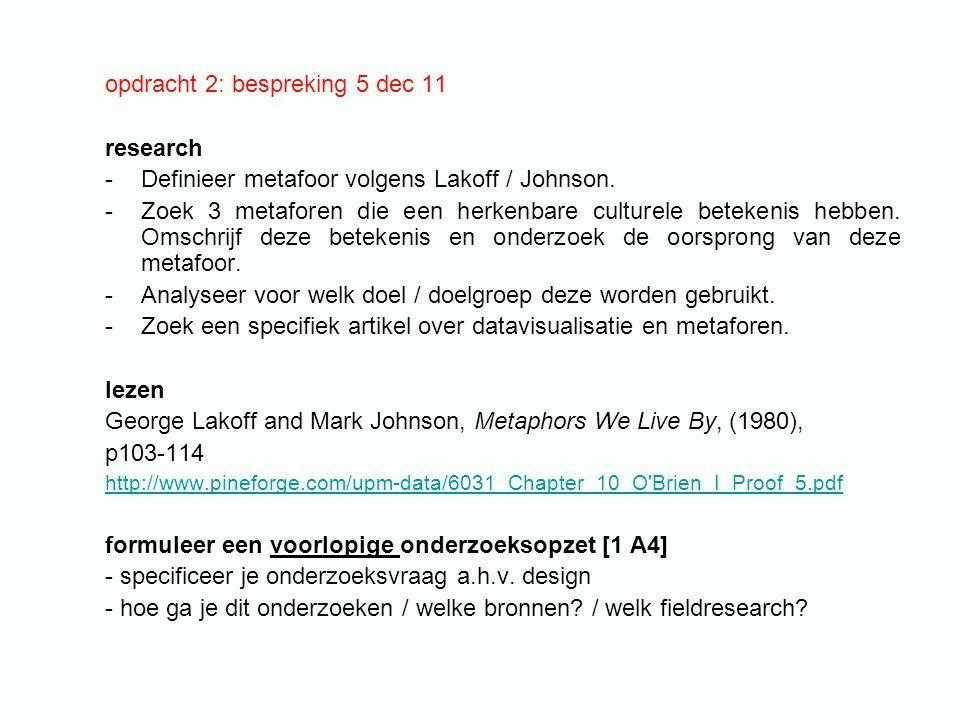 opdracht 2: bespreking 5 dec 11 research