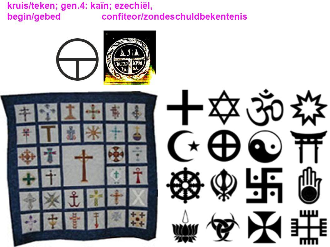 kruis/teken; gen.4: kaïn; ezechiël,