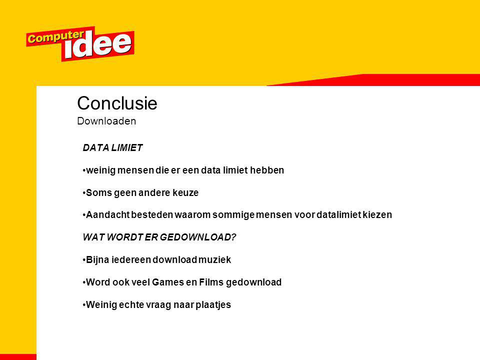 Conclusie Downloaden DATA LIMIET