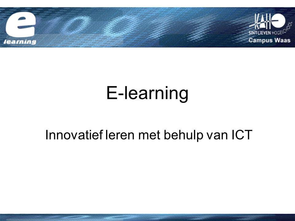 Innovatief leren met behulp van ICT