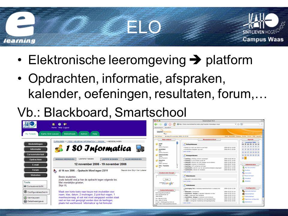 ELO Elektronische leeromgeving  platform
