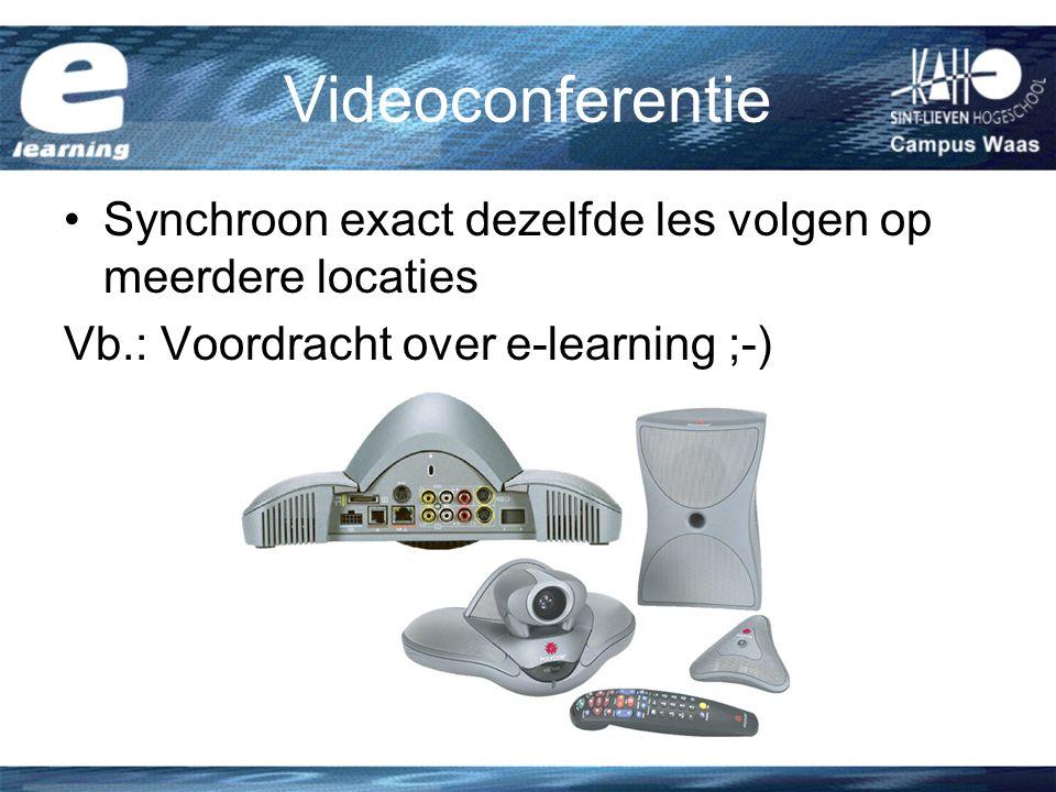 Videoconferentie Synchroon exact dezelfde les volgen op meerdere locaties.