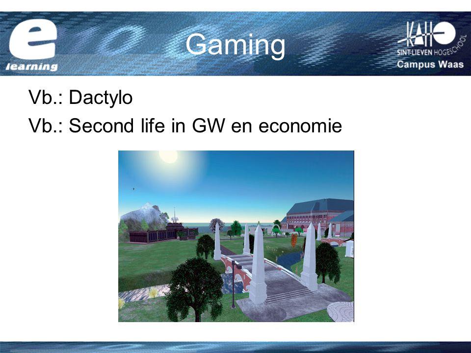 Gaming Vb.: Dactylo Vb.: Second life in GW en economie