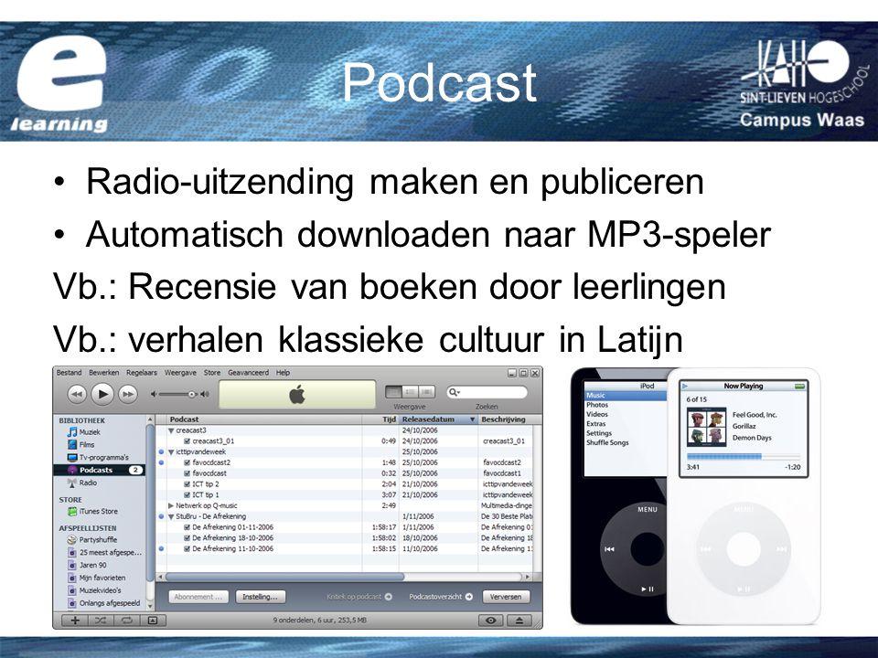 Podcast Radio-uitzending maken en publiceren