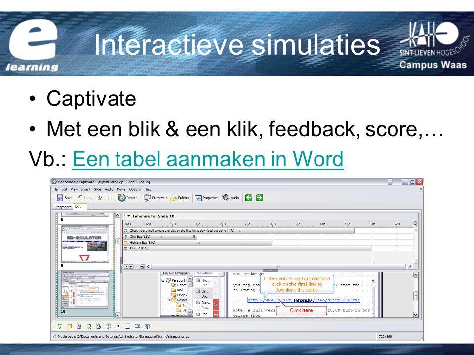 Interactieve simulaties