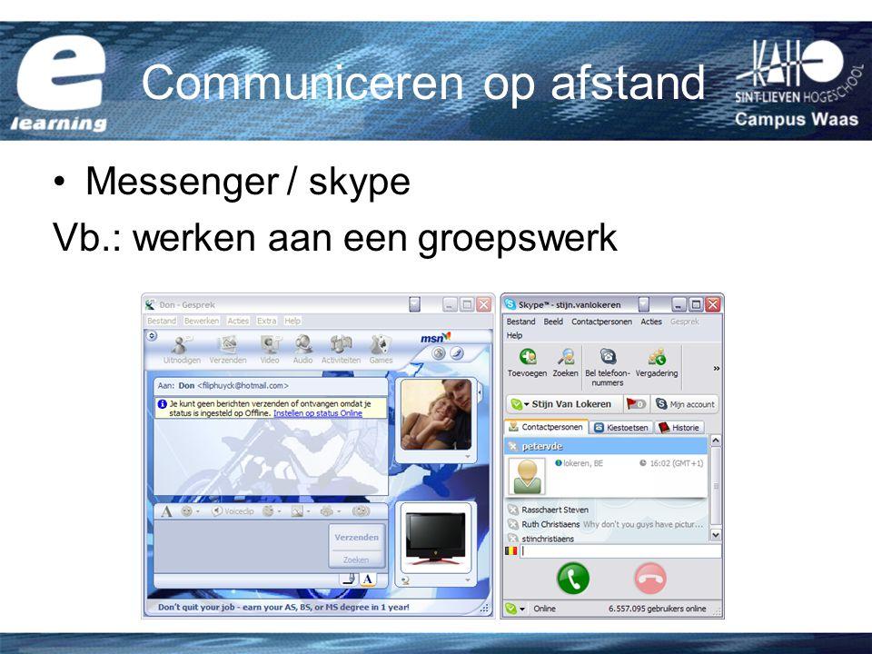 Communiceren op afstand