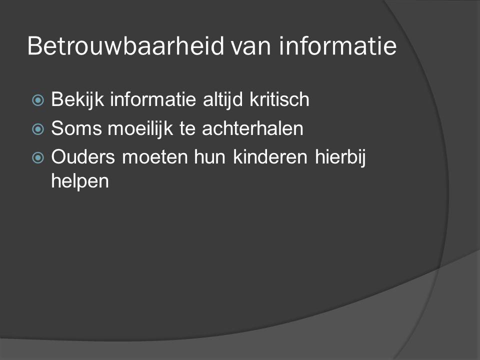 Betrouwbaarheid van informatie