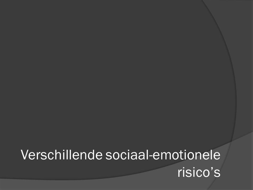 Verschillende sociaal-emotionele risico's