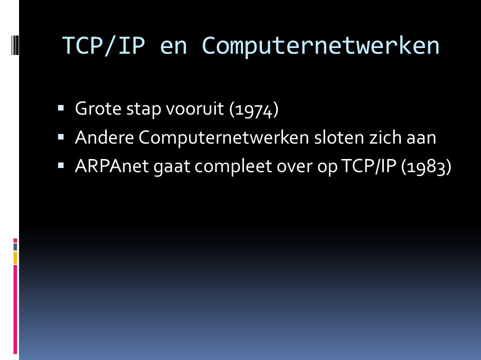 TCP/IP en Computernetwerken