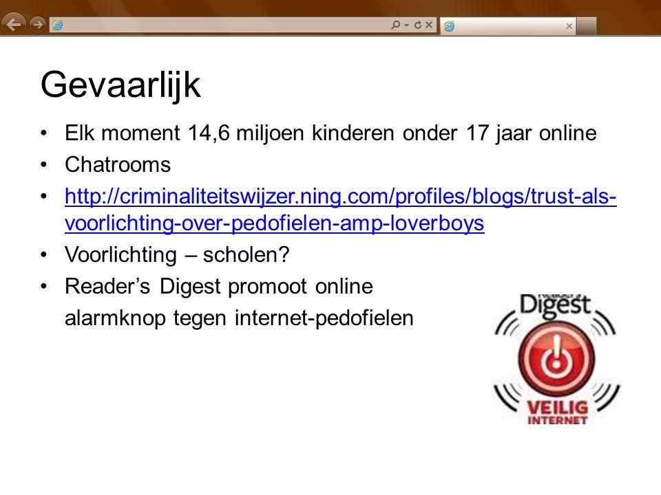 Gevaarlijk Elk moment 14,6 miljoen kinderen onder 17 jaar online