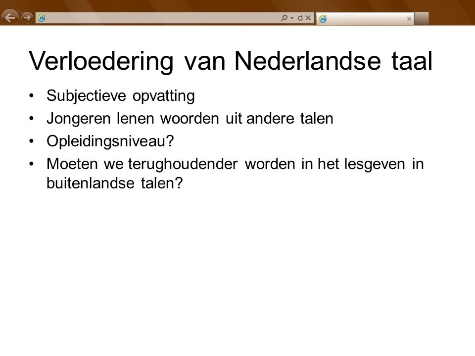 Verloedering van Nederlandse taal