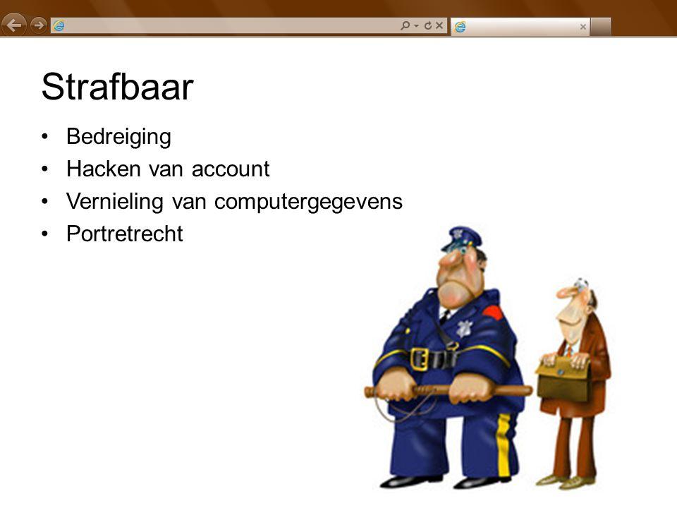 Strafbaar Bedreiging Hacken van account