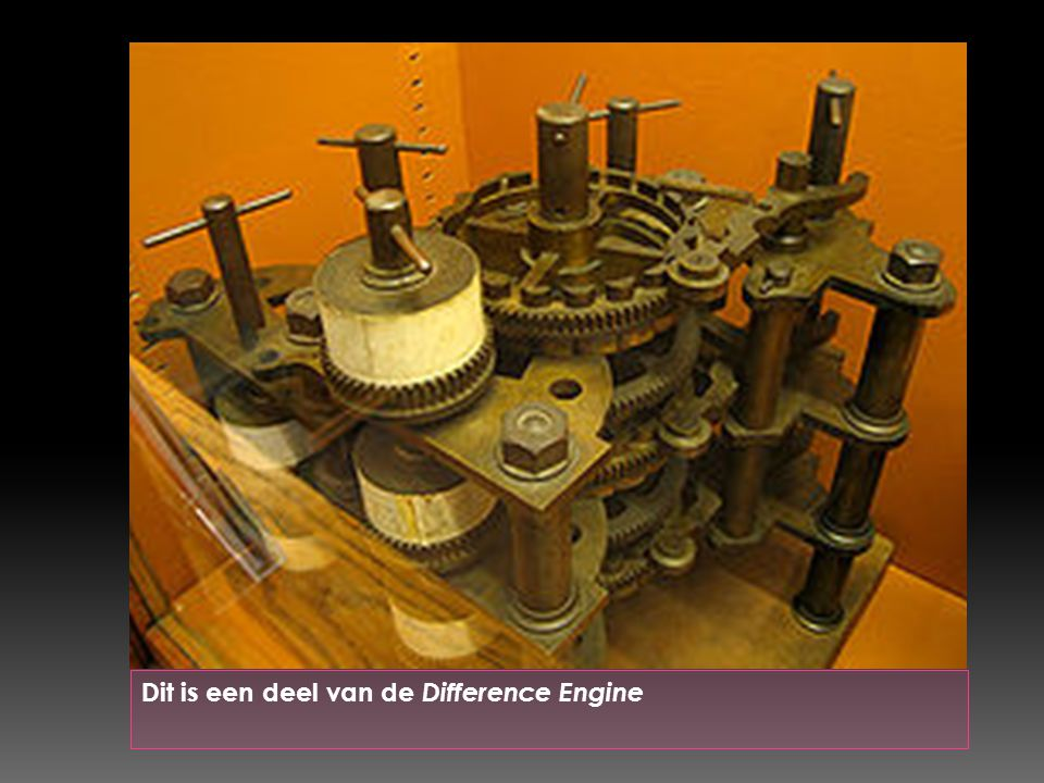 Dit is een deel van de Difference Engine