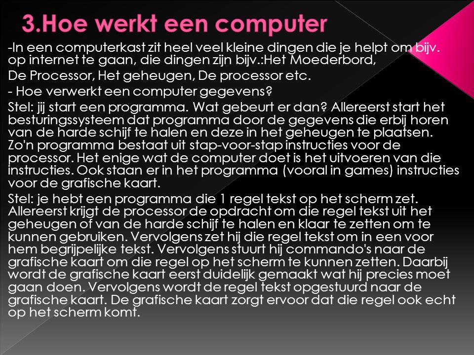 3.Hoe werkt een computer