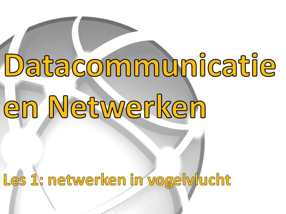 Datacommunicatie en Netwerken Les 1: netwerken in vogelvlucht