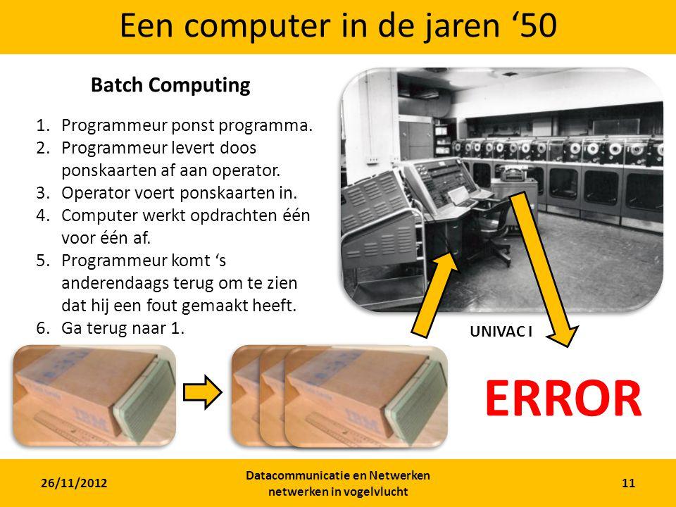 Een computer in de jaren '50
