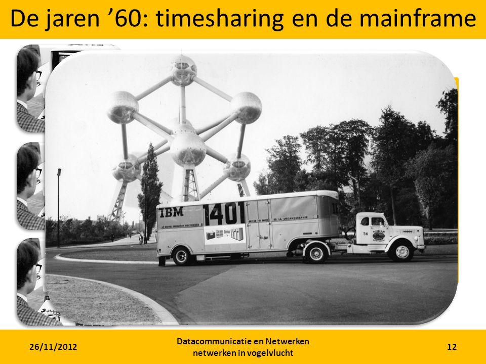 De jaren '60: timesharing en de mainframe