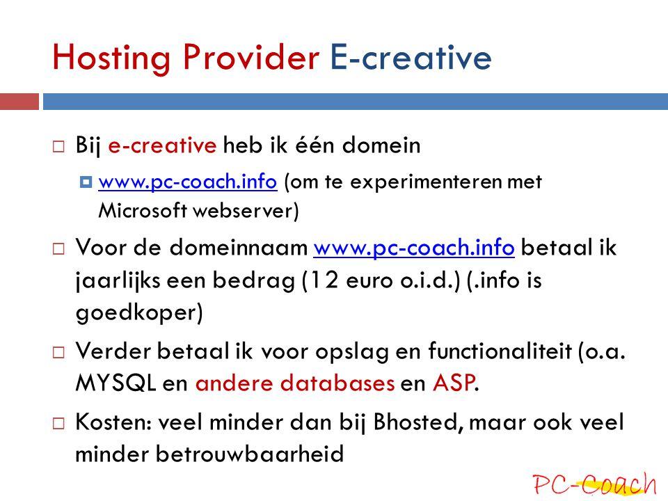 Hosting Provider E-creative