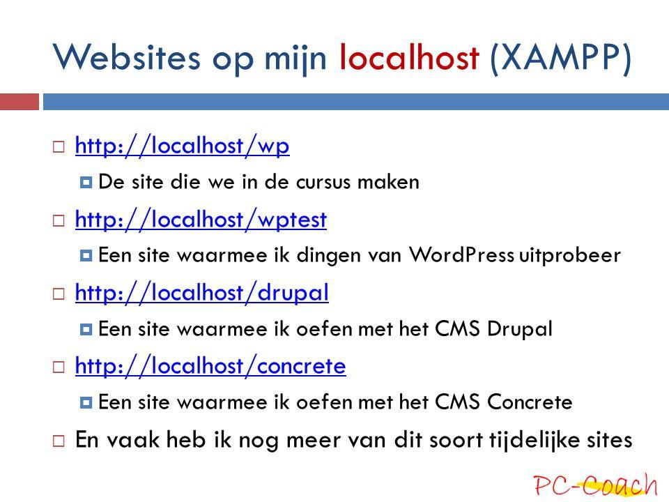 Websites op mijn localhost (XAMPP)