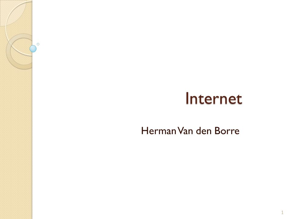 Internet Herman Van den Borre