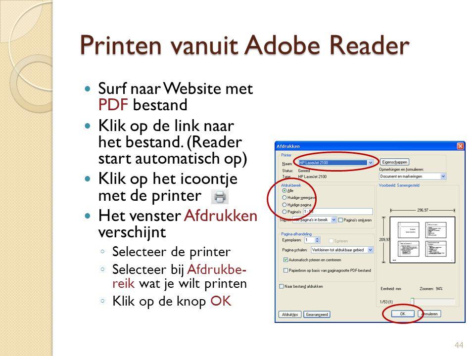 Printen vanuit Adobe Reader