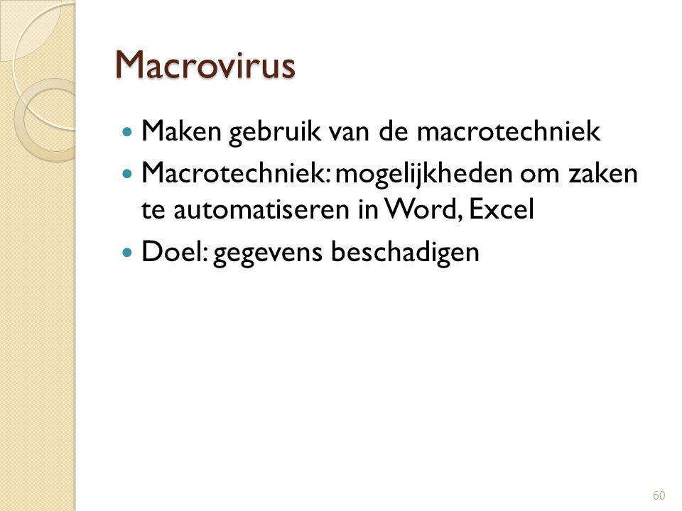 Macrovirus Maken gebruik van de macrotechniek