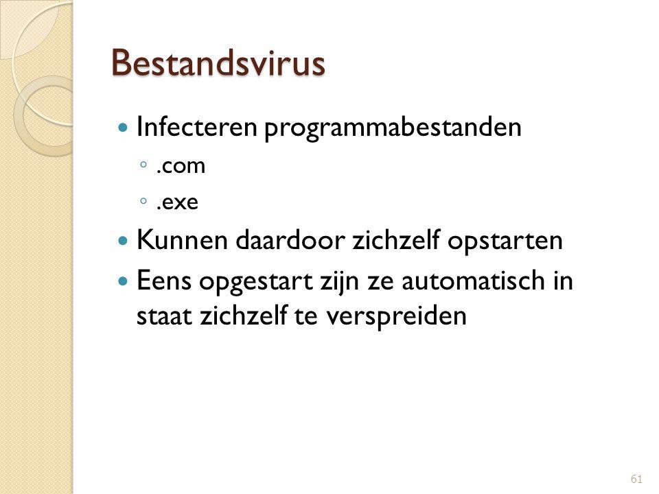 Bestandsvirus Infecteren programmabestanden