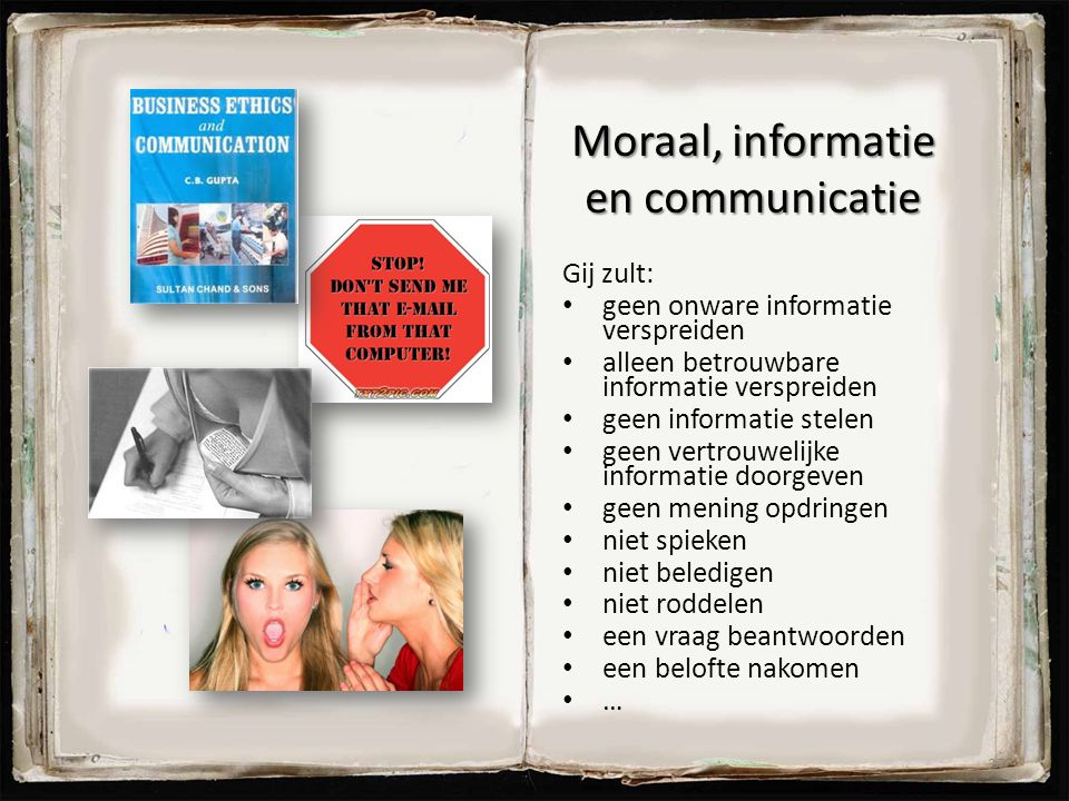 Moraal, informatie en communicatie