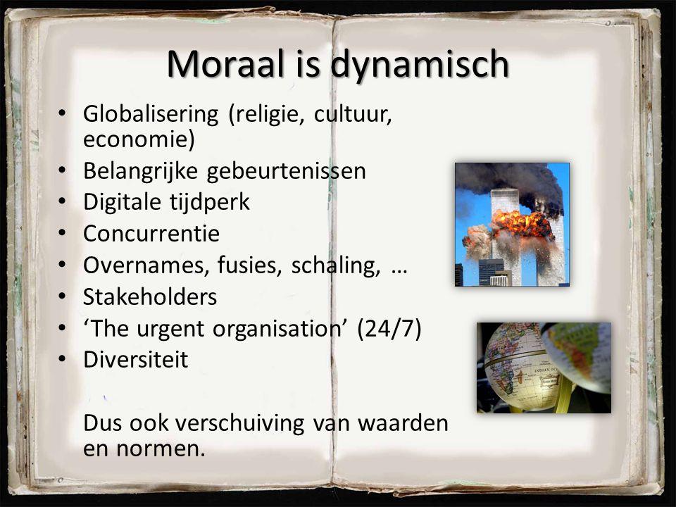 Moraal is dynamisch Globalisering (religie, cultuur, economie)
