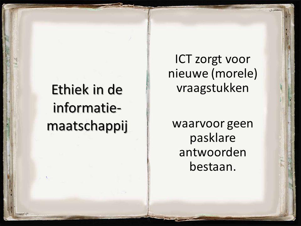 Ethiek in de informatie- maatschappij
