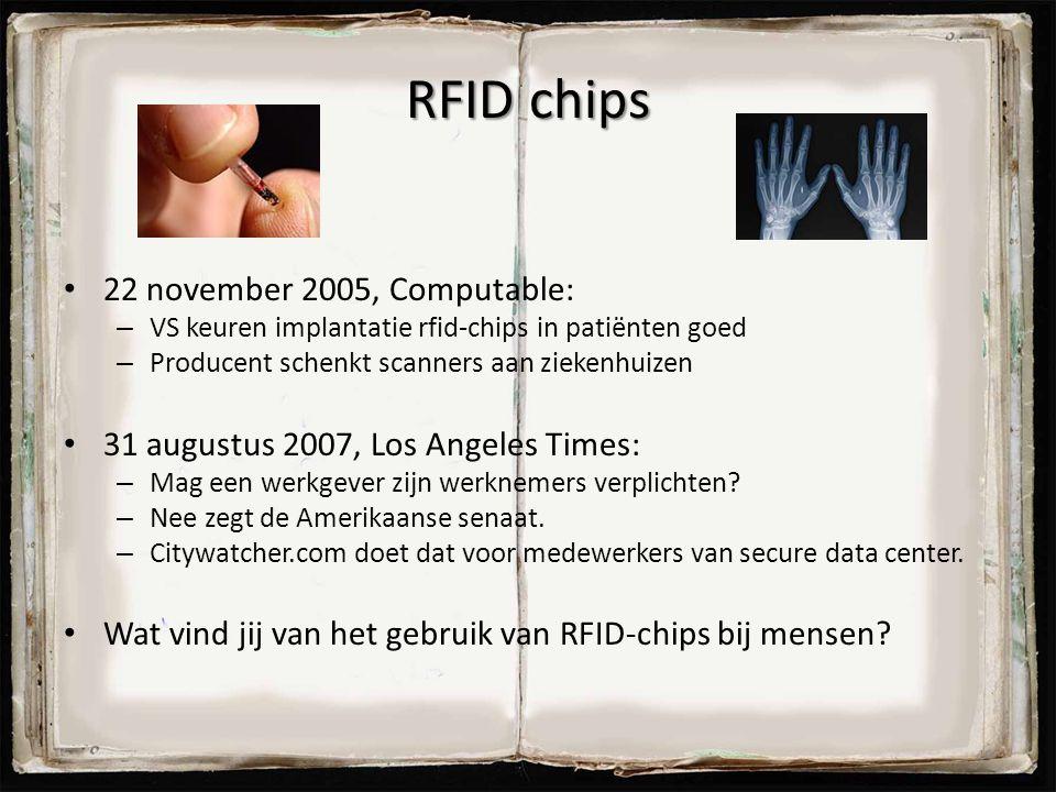 RFID chips 22 november 2005, Computable: