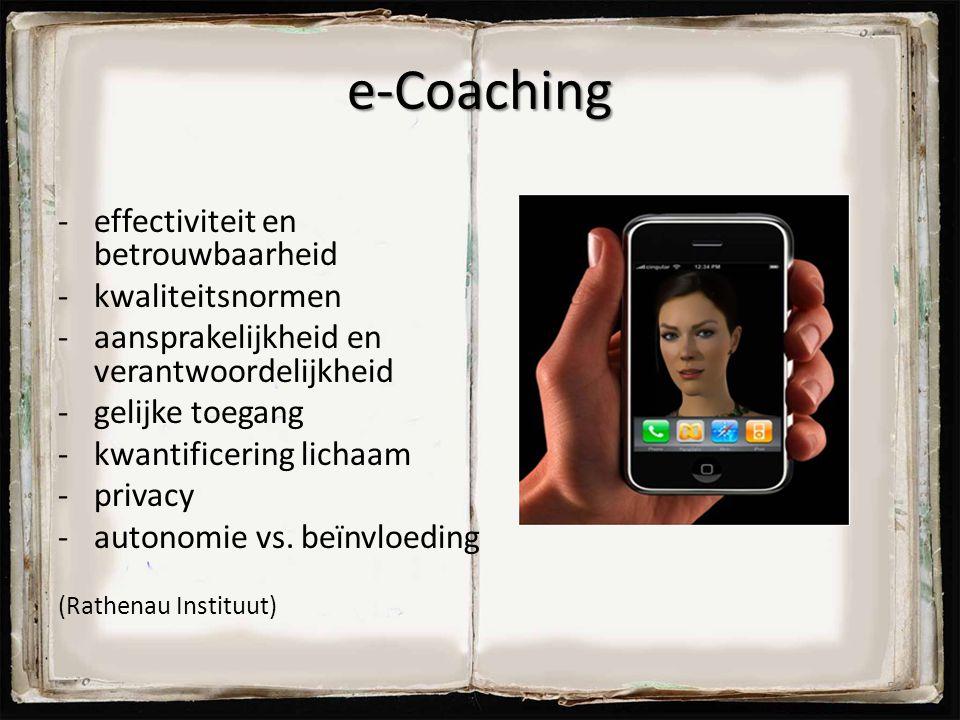 e-Coaching effectiviteit en betrouwbaarheid kwaliteitsnormen